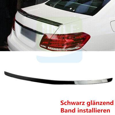 Fit Für Benz E-Klasse W212 Spoiler Heckspoiler Heckflügel Spoilerlippe Schwarz