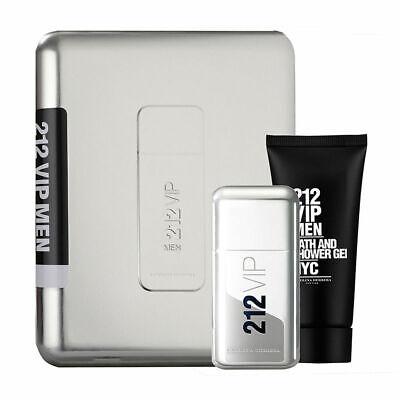 212 Vip Men 2 pcs Metal Gift Set By Carolina Herrera 3.4 EDT + Shower Gel