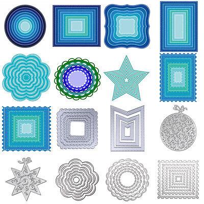 Metal Geometry Cutting Dies Stencil Scrapbooking Embossing Paper DIY Card - Paper Embossing