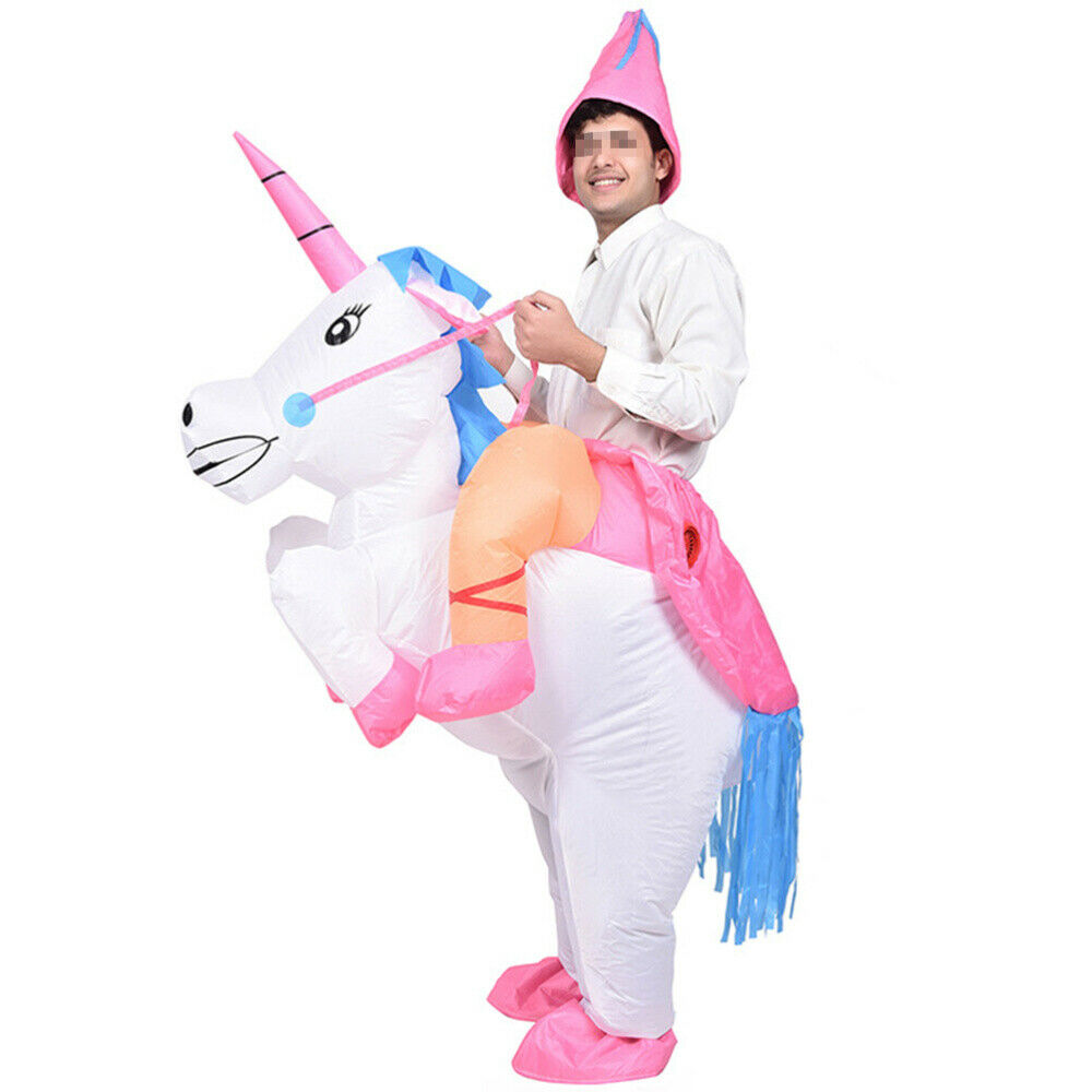 Inflatable Unicorn Costume Rider Christmas Cosplay Party ...