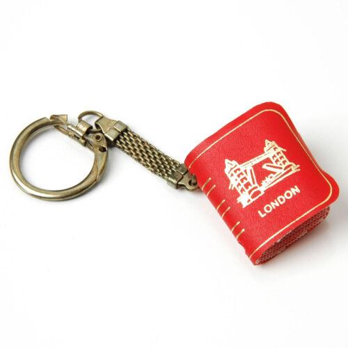 Vintage London Mini Postcard Foldout Souvenir Book Key Chain