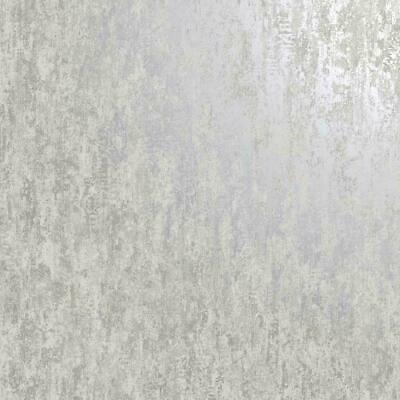 Holden Decor Industrial Metallic Distressed Texture Grey Silver Wallpaper 12840
