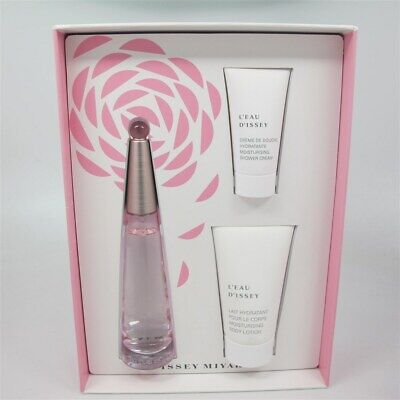 L'eau D'issey Florale by Issey Miyake 3 Pc Set: 50 ml EDT Spray, S/G & B/L