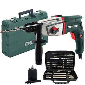 Metabo KHE2644 SDS Plus Combination Hammer Drill 240V With Extra Accessories