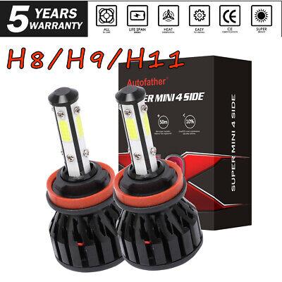 4-Sides H11 LED Headlight H8 H9 Kits 3000W 400000LM Bulbs High Power 6000K White