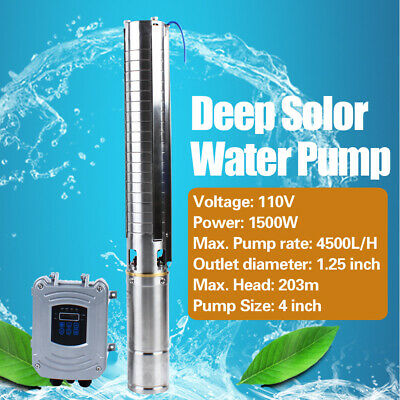 1500w Dc110v Solar Deep Well Water Pump Submersible For Farm Irrigation 4500lh