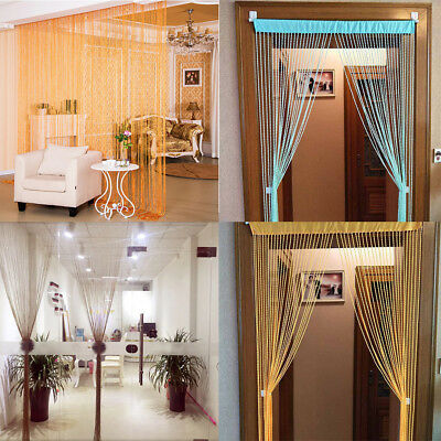 String Curtains Patio Fringe for Door Fly Screen Windows Divider Cut To Size 9](Curtains For Door)