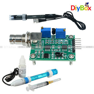 Liquid Ph0-14 Value Detect Sensor Module Ph Electrode Probe Bnc For Arduino Db