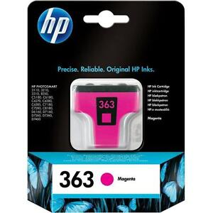 HP 363 (C8772) Magenta Ink Cartridge, Original and Genuine