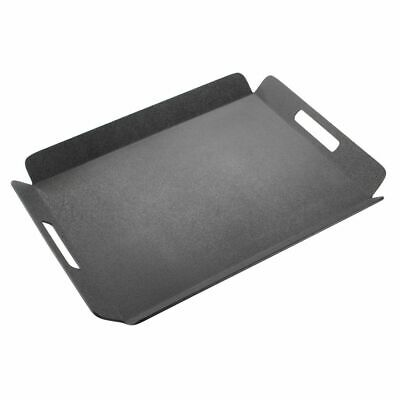 Cal-Mil Rectangular Black ABS Plastic Room Service Tray with Handles - 22 1/2