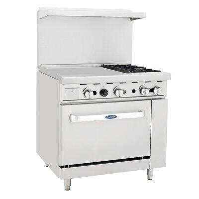 Atosa Ato-24g2b Cookrite 36 2 Burner Gas Range W Oven
