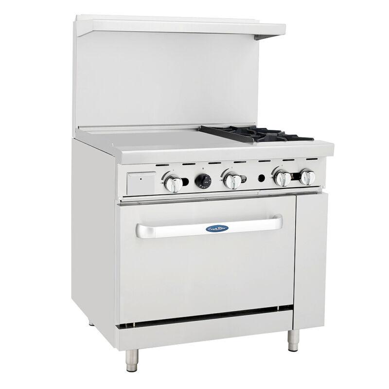 "Atosa Ato-24g2b Cookrite 36"" (2) Burner Gas Range W/ Oven"