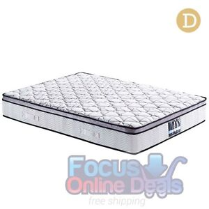 Cool Gel Memory Foam Euro Top Pocket Spring Mattress Double Melbourne CBD Melbourne City Preview