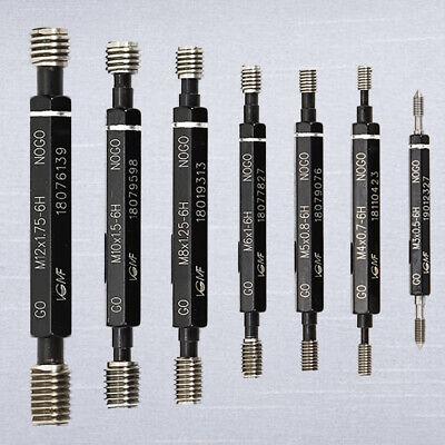 7pcs H6 Metric Thread Plug Gage Go-no Go Set M3 M4 M5 M6 M8 M10 M12 Usa Stock