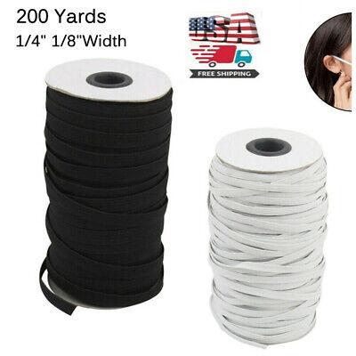 200 Yards Length  DIY Braided Elastic Band Cord Knit Band Sewing 1/8 1/4 inch