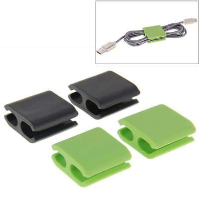 4pcs Wire Cord Cable Drop Clips Ties Smart Organizer Line Fixer Holder New for sale  Shipping to India