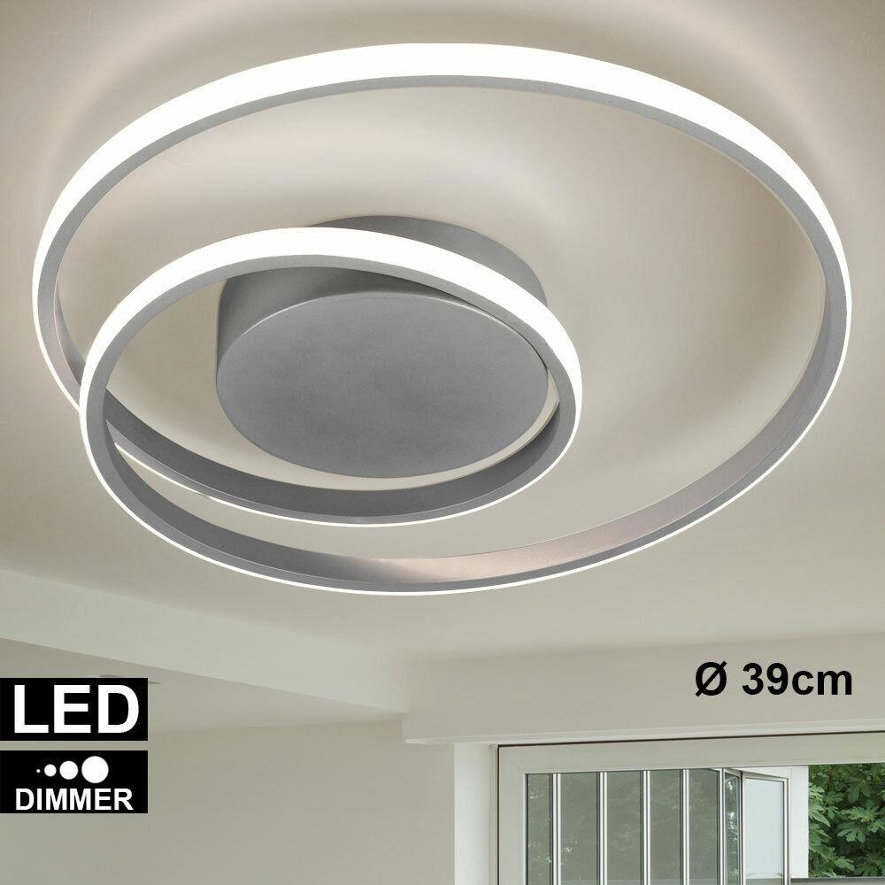 LED Decken Leuchte Switch Dimmer Ring Design Wohn Zimmer Beleuchtung Lampe Titan