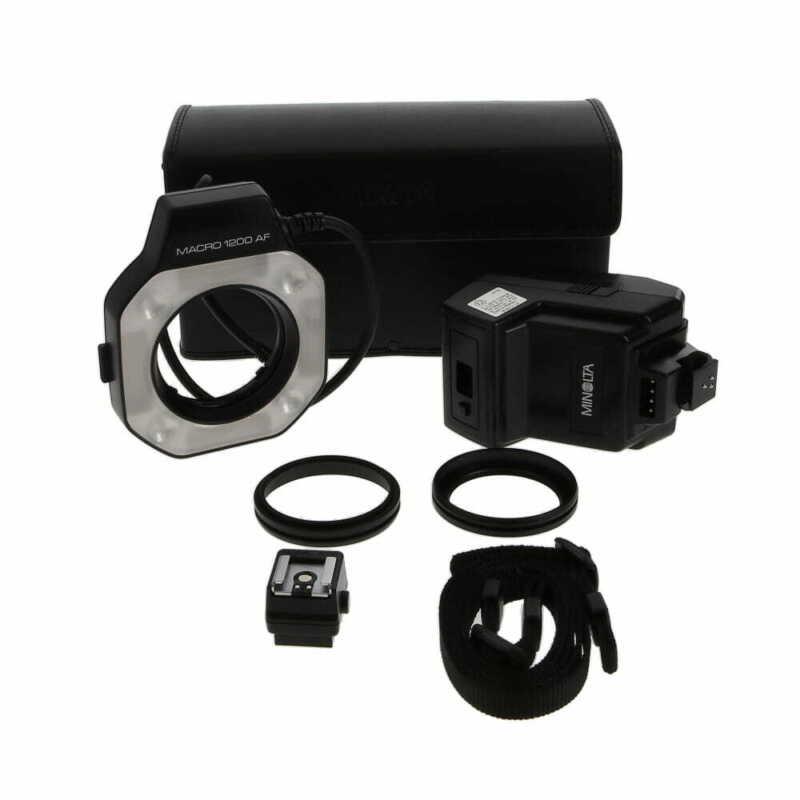 Minolta 1200AF Macro Flash Set (Ringlight & Control Unit) EX