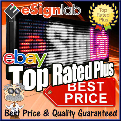 Led Sign 3 Color Rwp Programmable Scrolling Outdoor Message Display 12 X 40