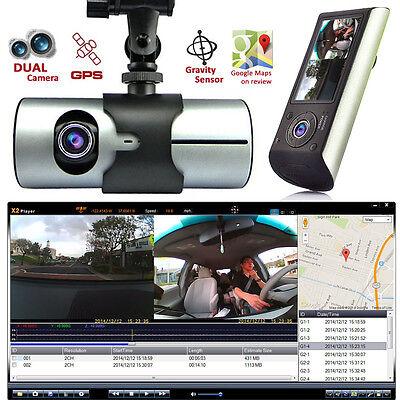 Indigi HD Dash-Cam Dual Camera Front+InCab Driving Recorder