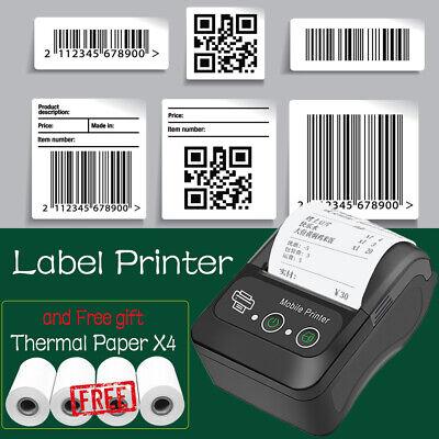 Wireless Bt Thermal Receipt Printer Mobile Pos Label Printer Thermal Paper X4