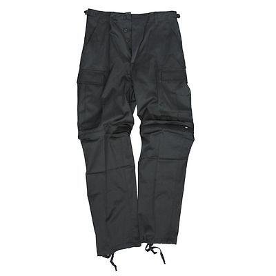 Zip Abnehmbare (Zip-Off Hose Herrenhose Bekleidung abnehmbare Beine Bermuda Shorts schwarz)