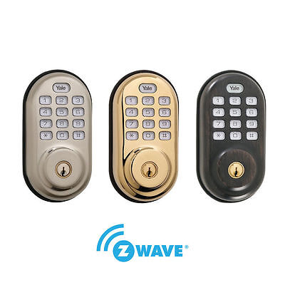Yale Yrd210 Zw Real Living Electronic Push Button With Z Wave