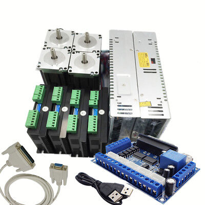 Nema23 57mm 4 Axis1.8nm Stepper Motor Drive Controller Power Supply Breakout Kit