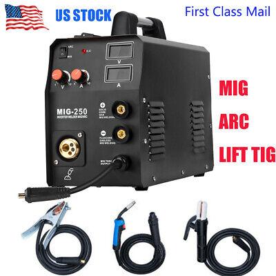 Mig Welder 200a 220v Gas Gasless Inverter Arc Lift Tig Mma Welding Machine Us
