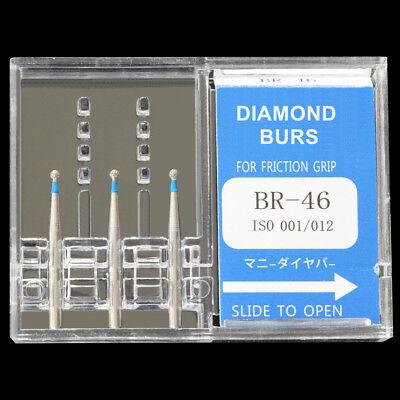 Mani Br-46 Dia-burs Ball Round Type Standard Grit Dental Diamond Bur Fg 1.6mm