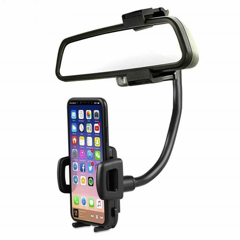 Universal 360° Car Rearview Mirror Mount Stand Holder Cradle For Cell Phone GPS Cell Phone Accessories