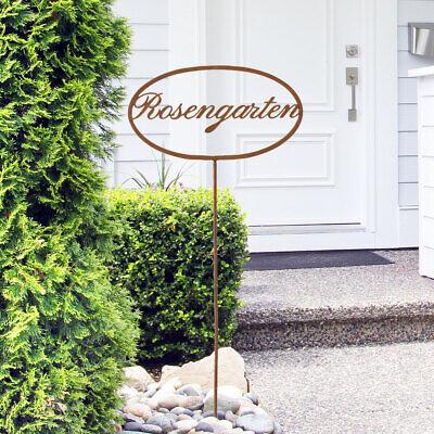 Garten Stecker Shabby Rosengarten Schild Terrasse Hof Eisen Edelrost Außen Deko