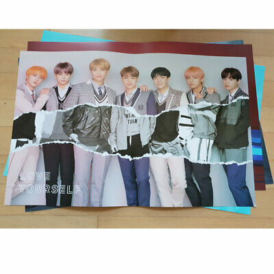 BTS Bangtan Boys Love Yourself 結 Answer L VER . Official folded Poster