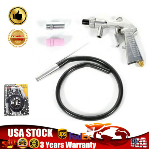 Details about Air Sandblasting Gun Kit Pneumatic Sand blaster Spray Gun  Tool Three Nozzles USA