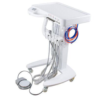 Portable Mobile Dental Delivery Unit Cart Work W Compressor 4hole Equipment Fda
