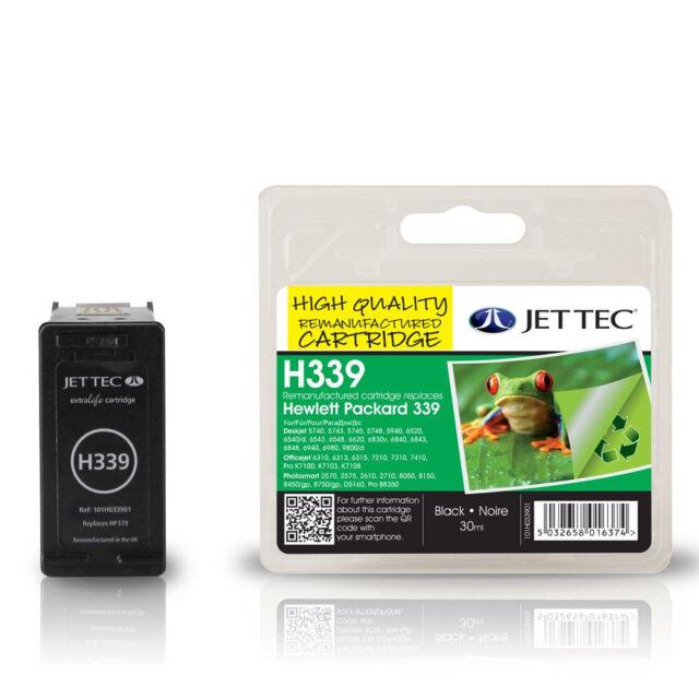 JET TEC H339 HIGH CAPACITY REMANUFACTURED HP C8767EE (HP339) BLACK INK CARTRIDGE