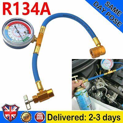 Car R134A Hose A/C Air Conditioning Refrigerant Recharge Hose Gas Gauge Tool Kit