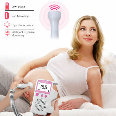 Lcd Ultrasonic Detector Fetal Doppler Prenatal Baby Heart Rate Monitor Us Ship