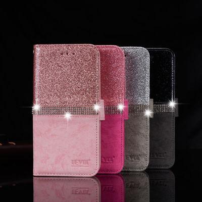Handy Hülle Bling Glitzer Tasche Strass Case Schutz Etui für iPhone Samsung Bling Strass Case