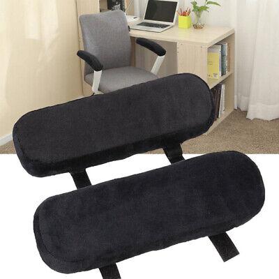 1 Pair Office Chair Arm Pad Replacement Part Armrest Soft Sponge Elbow Pillow