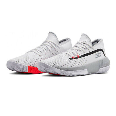Under Armour Mens SC 3ZER0 III Basketball Shoes White Sports Breathable