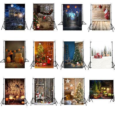 5x7FT Vinyl Studio Photography Backdrops Halloween/Background Happy Christmas US (Happy Halloween Background)