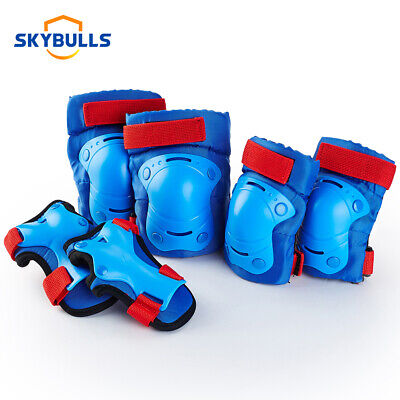 US BMX Bike Knee Pads and Elbow Pads with Wrist Guards Protective Gear Bule M