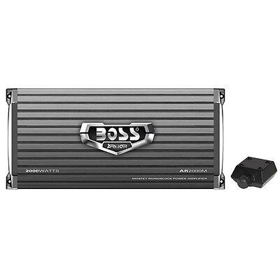 Boss Armor Ar2000m 2000 Watt Monoblock A B Amplifier Car Audio Amp   Bass Remote