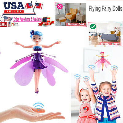 Flying Fairy Princess Balls Dolls Magic Infrared Induction Control Toy kid Gift