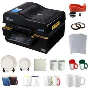 3D Sublimation Transfer Machine Mug Plate Tile KIT# 000958