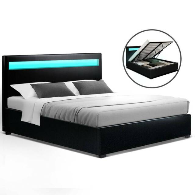 Led Bed Frame Queen Size Beds, Queen Bed Frame Adelaide Gumtree