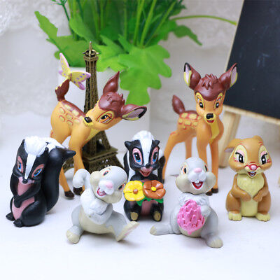 Thumper Toys (Bambi Thumper Flower Bambi 7 PCS Action Figure Cake Topper Kids Gift Doll Toy)
