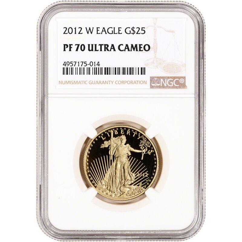2012-W American Gold Eagle Proof 1/2 oz $25 - NGC PF70 UCAM