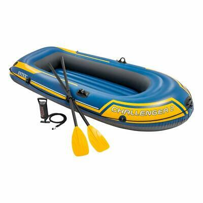 Intex Challenger 2 Boat Set - two man inflatable dinghy with oars + pump #68367